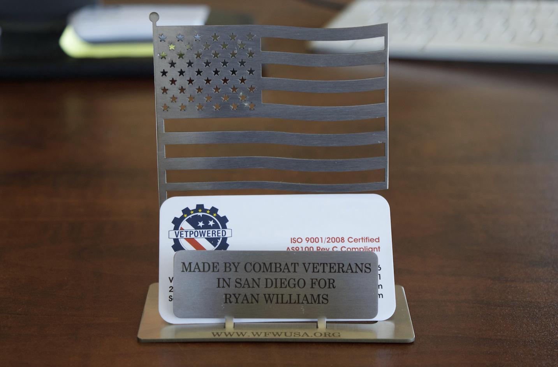VetPowered Flag Business Card Holders